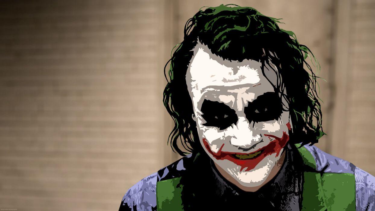 The Joker Heath Ledger Dark Knight Wallpaper