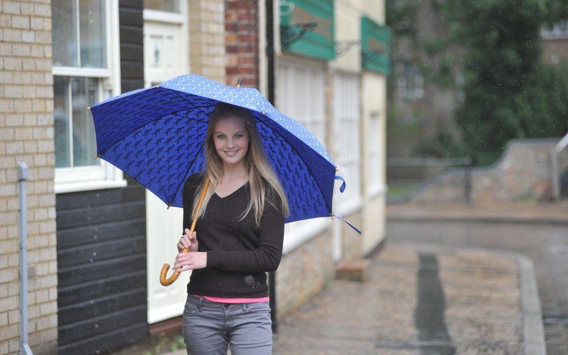 women models umbrellas wallpaper