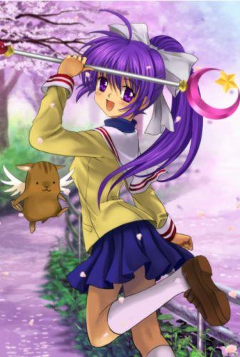 Clannad Fujibayashi Kyou anime mahou shoujo wallpaper