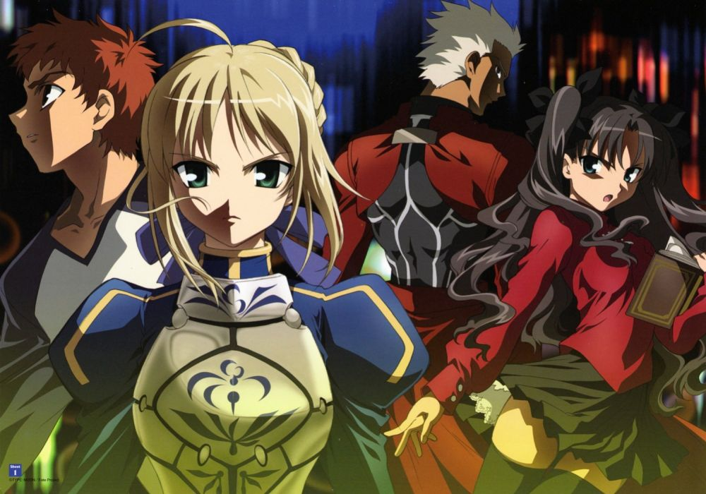 Fate/Stay Night Tohsaka Rin Emiya Shirou Saber  Archer (Fate/Stay Night) Fate series wallpaper