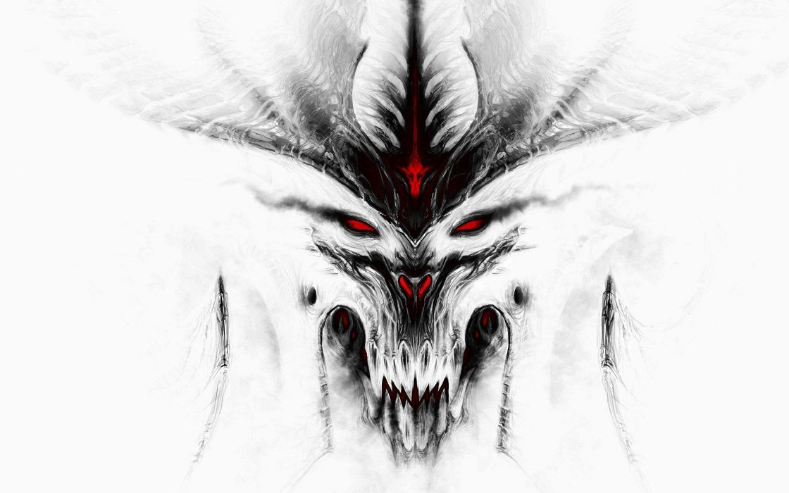 video games white Diablo Blizzard Entertainment Diablo III games wallpaper