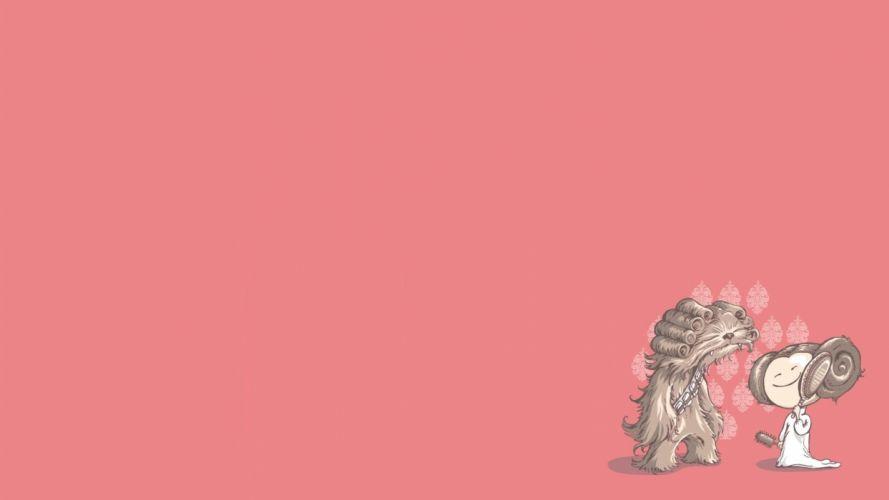 Star Wars funny illustrations digital art wallpaper