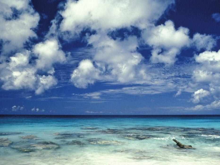 clouds nature sea beaches wallpaper