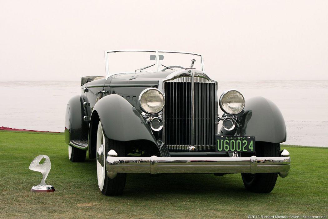 1934 Packard 1108 Twelve Dietrich Convertible Victoria wallpaper