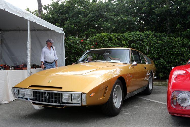 1965 Ferrari 330 GT Golden Car wallpaper