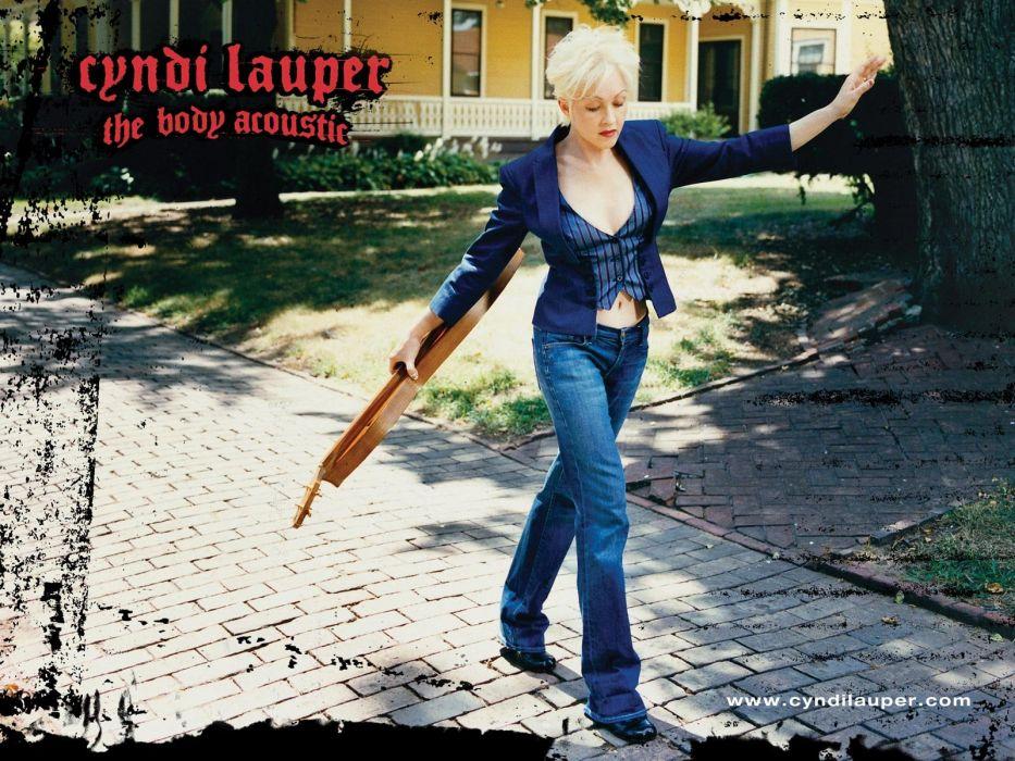 CYNDI LAUPER pop dance new wave glam poster wallpaper