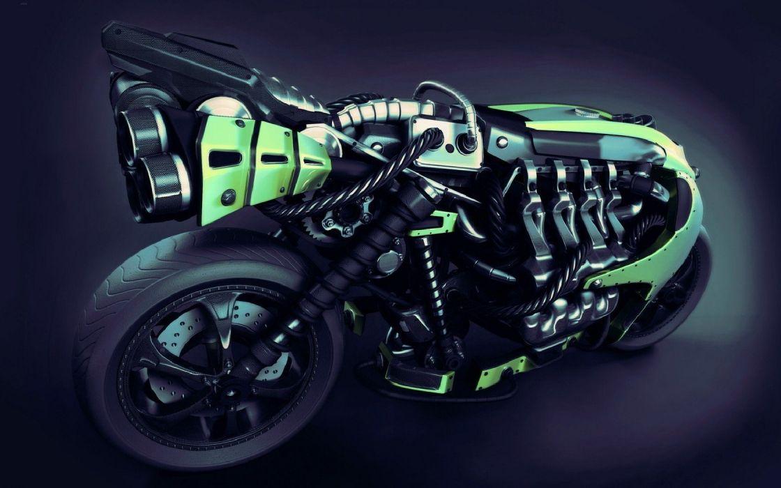 design motorbikes wallpaper