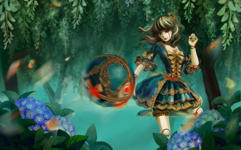 video games League of Legends artwork Orianna rococo wallpaper