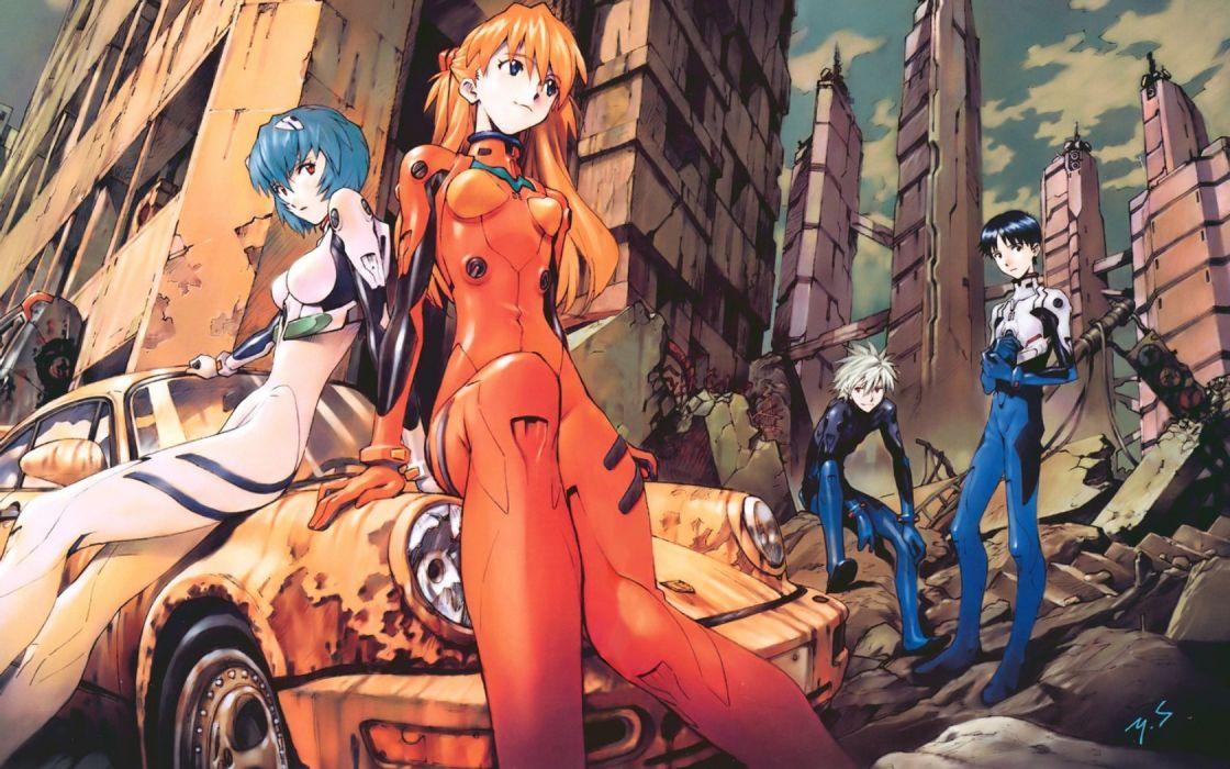 Ayanami Rei Neon Genesis Evangelion Asuka Langley Soryu EVAs wallpaper