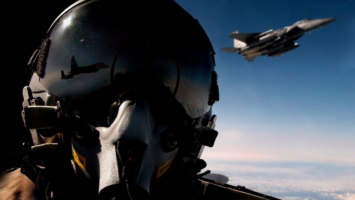 aircraft Pilot F15 Eagle airforce fighter wallpaper