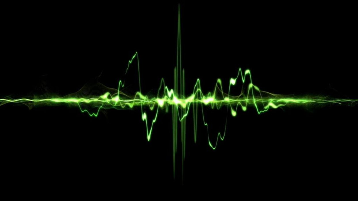 abstract artistic soundwaves wallpaper