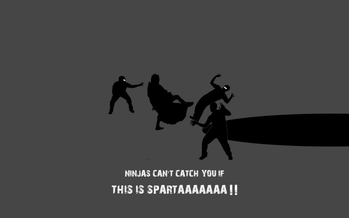 Sparta ninjas cant catch you if wallpaper