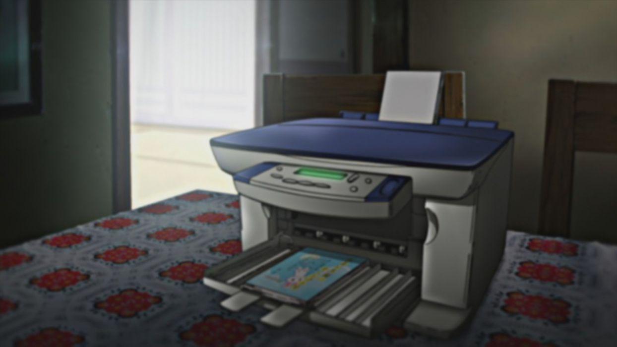 indoors illustrations anime printer Nichijou wallpaper