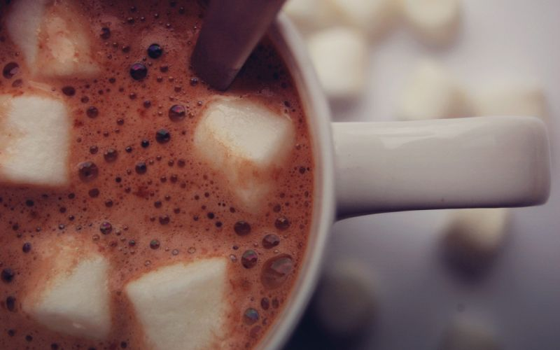 marshmallow beverages hot chocolate wallpaper