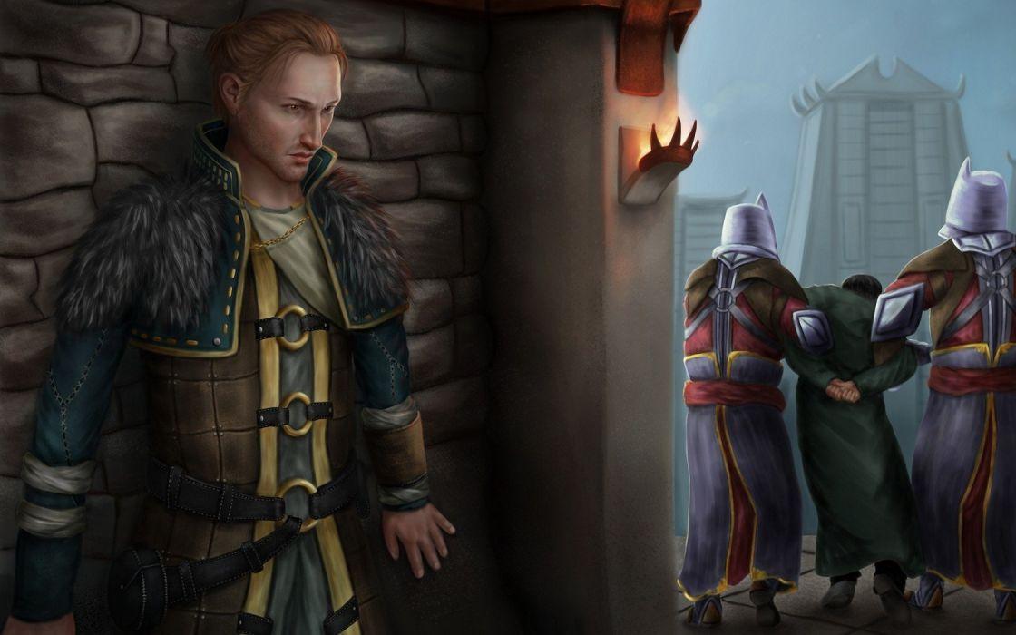 video games Dragon Age artwork Dragon Age 2 fan art games art wallpaper
