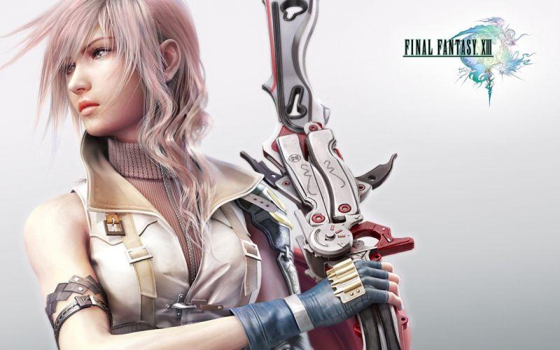 video games Final Fantasy XIII lightning wallpaper