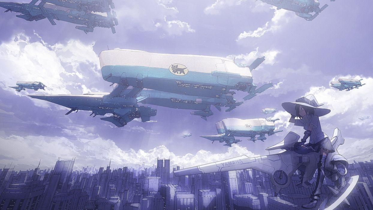 futuristic Pixiv anime girls wallpaper