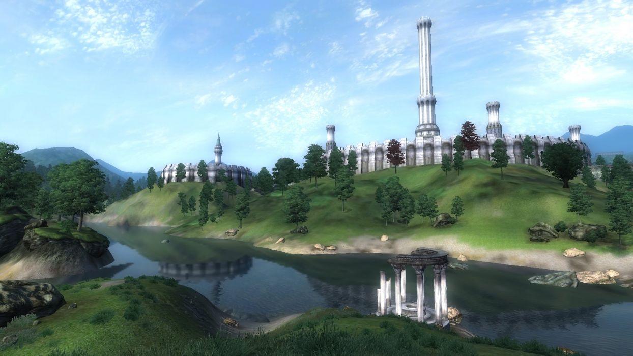 video games landscapes rivers imperial city The Elder Scrolls IV: Oblivion gameplay wallpaper