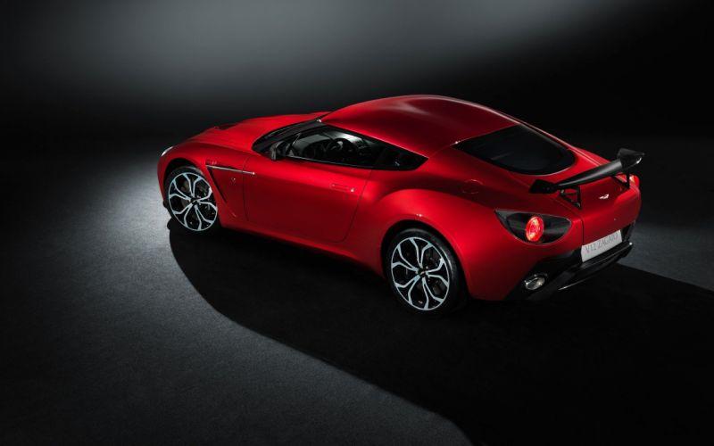 red cars Aston Martin vehicles sports cars Aston Martin V12 Zagato wallpaper