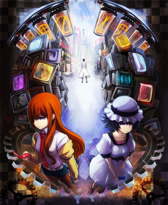 gate anime Steins;Gate Shiina Mayuri Makise Kurisu anime girls wallpaper
