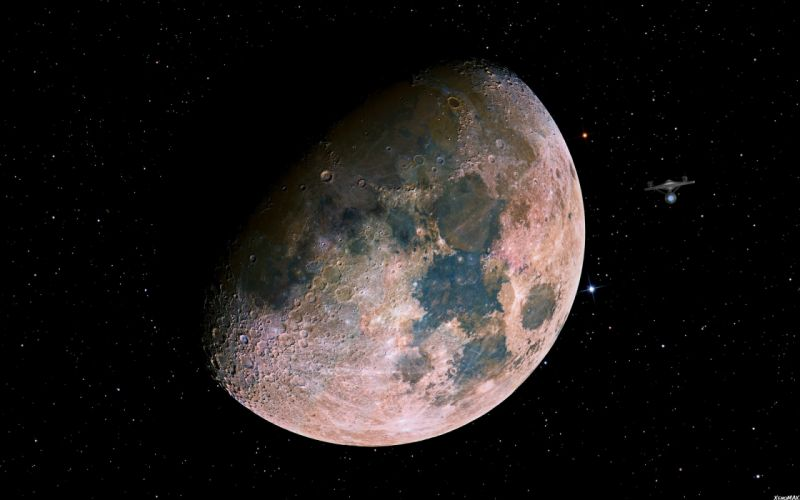 outer space Moon wallpaper