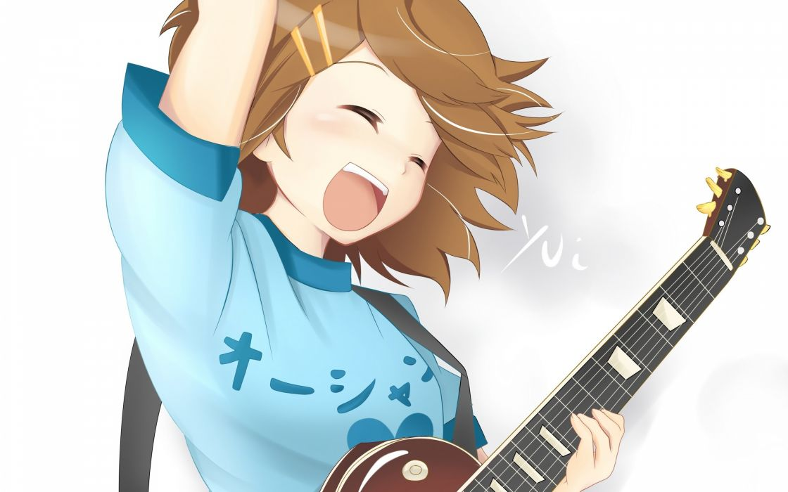 K-ON! Hirasawa Yui guitars anime anime girls wallpaper