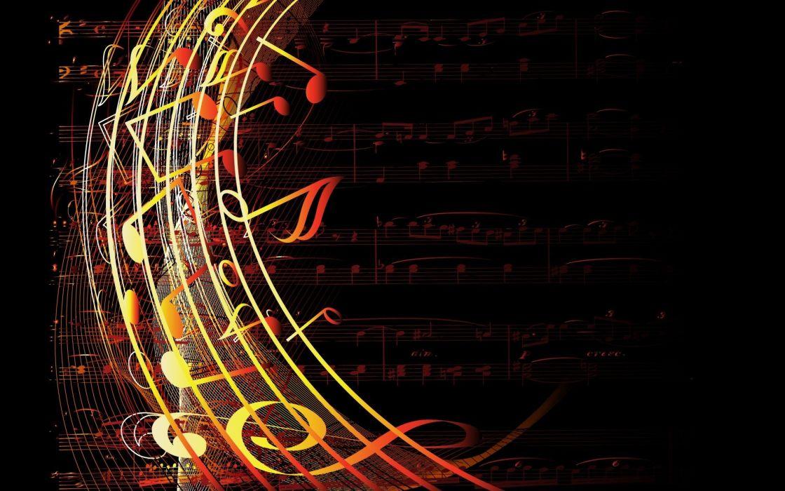 music digital art wallpaper