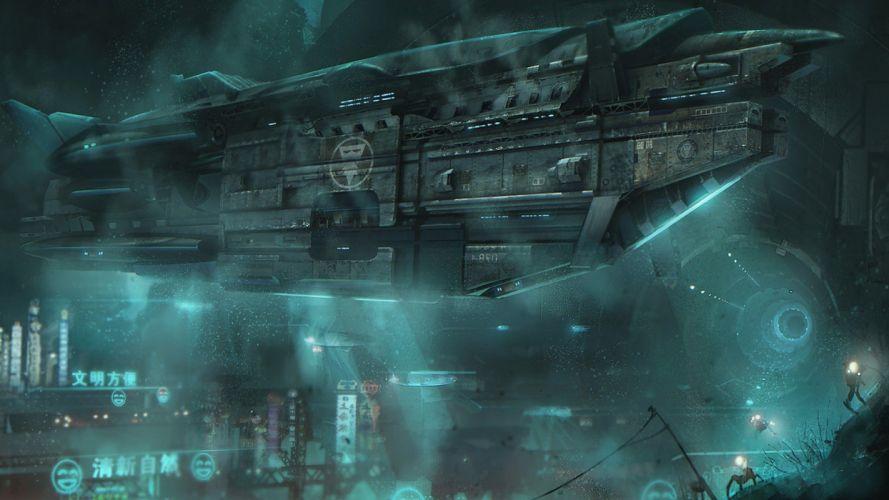 fantasy futuristic wallpaper
