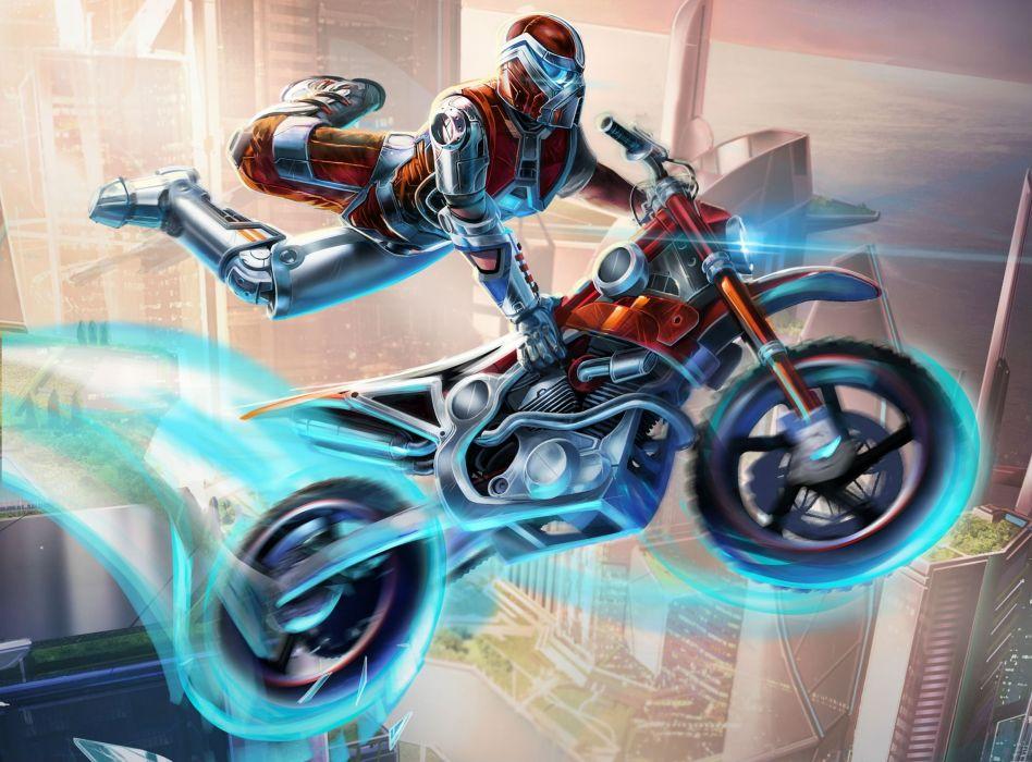 TRIALS FUSION trials motorbike bike sci-fi motorcycle moto motocross dirtbike wallpaper