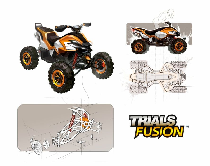 TRIALS FUSION trials motorbike bike sci-fi motorcycle moto motocross dirtbike poster wallpaper