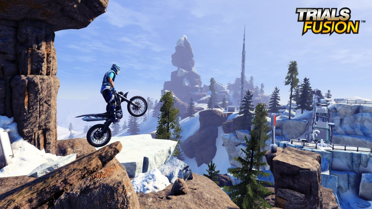 TRIALS FUSION trials motorbike bike sci-fi motorcycle moto motocross dirtbike poster wallpaper