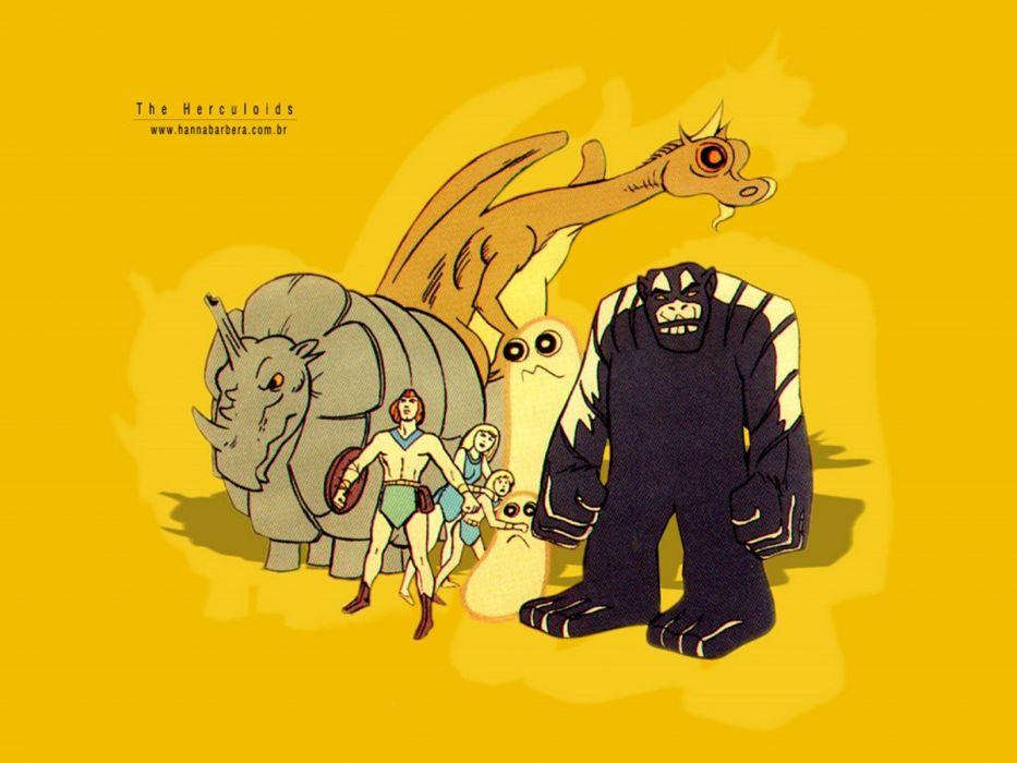 the herculoids hanna barbera cartoon wallpaper
