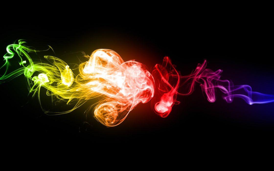 smoke rainbows wallpaper