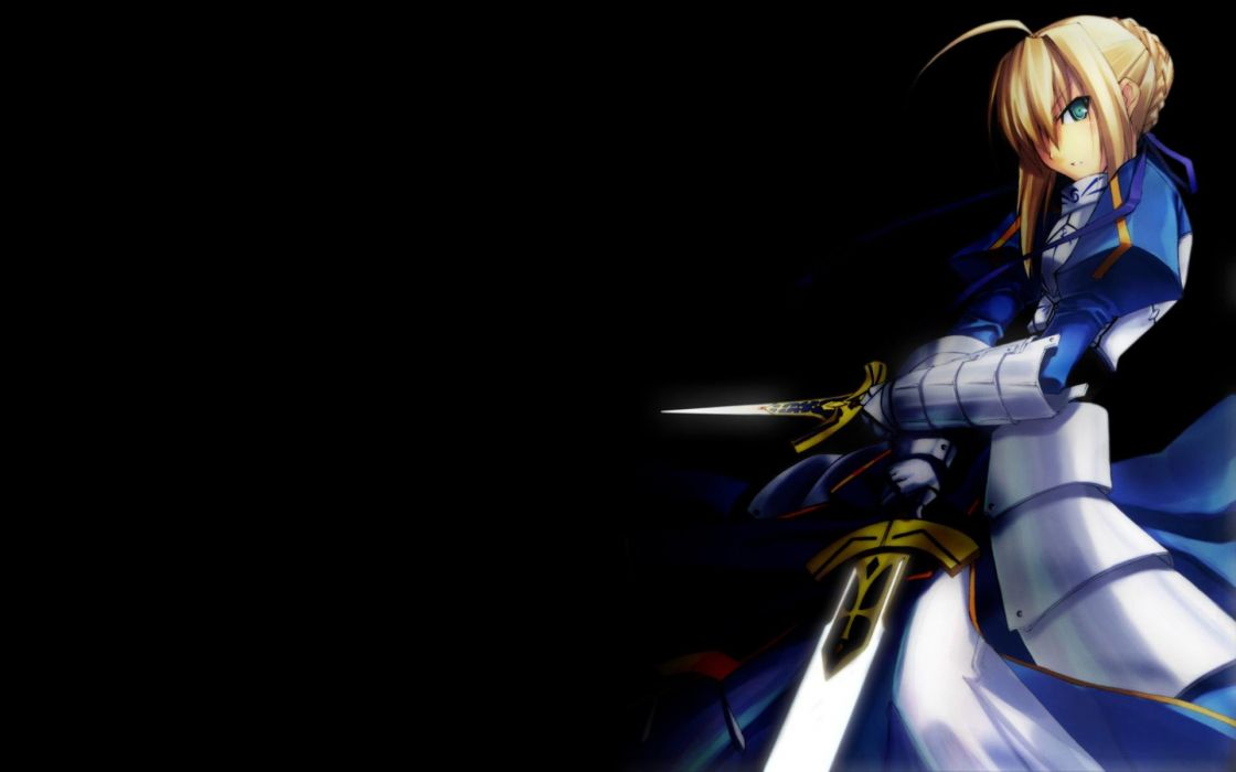 Fate/Stay Night Type-Moon Saber  simple background Fate series Shingo (Missing Link) wallpaper