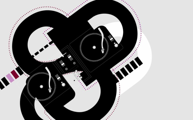 music vectors turntables wallpaper
