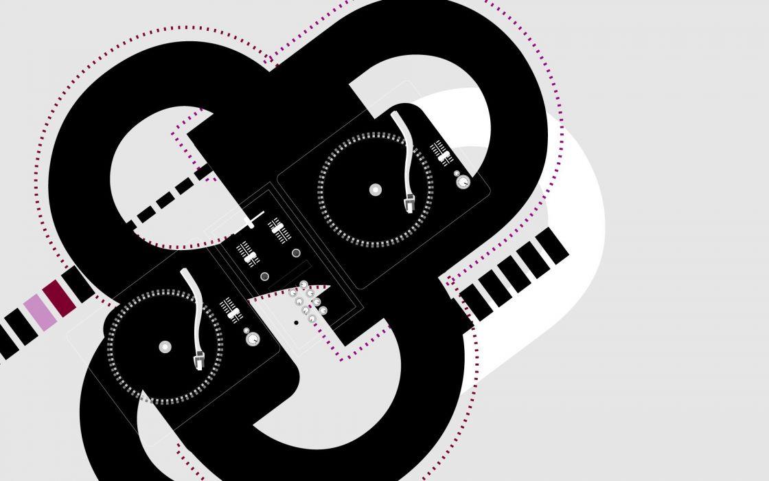 music vectors turntables wallpaper