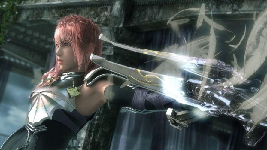 Final Fantasy digital art Claire Farron Final Fantasy XIII-2 wallpaper