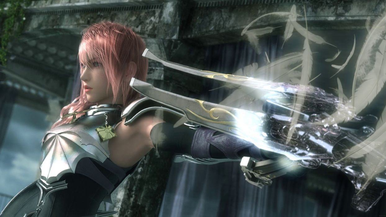Final Fantasy digital art Claire Farron Final Fantasy XIII-2 wallpaper