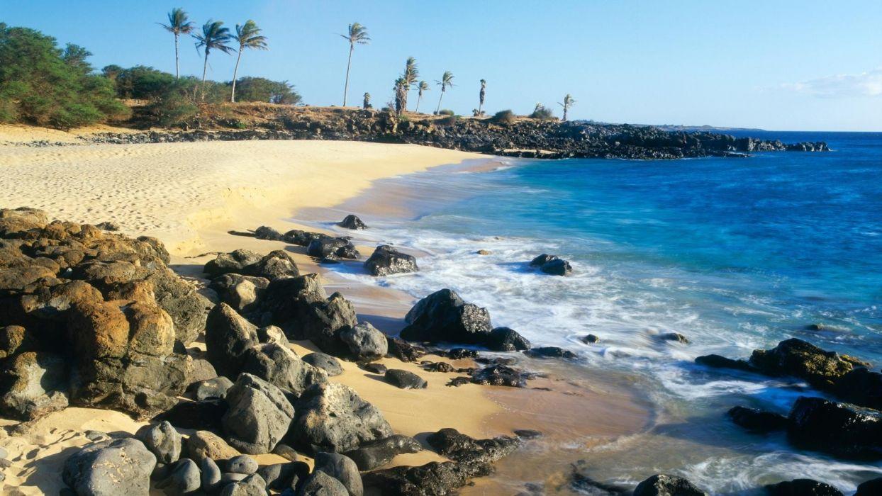 nature Hawaii Molokai beaches wallpaper