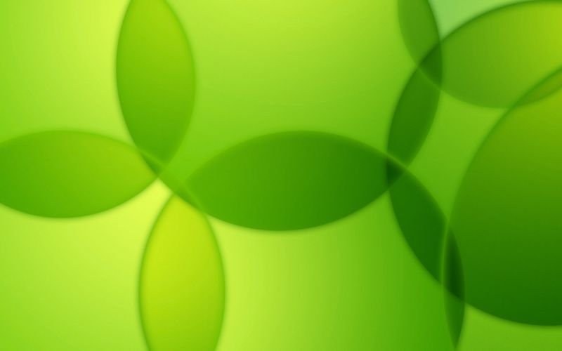 green abstract bubbles wallpaper
