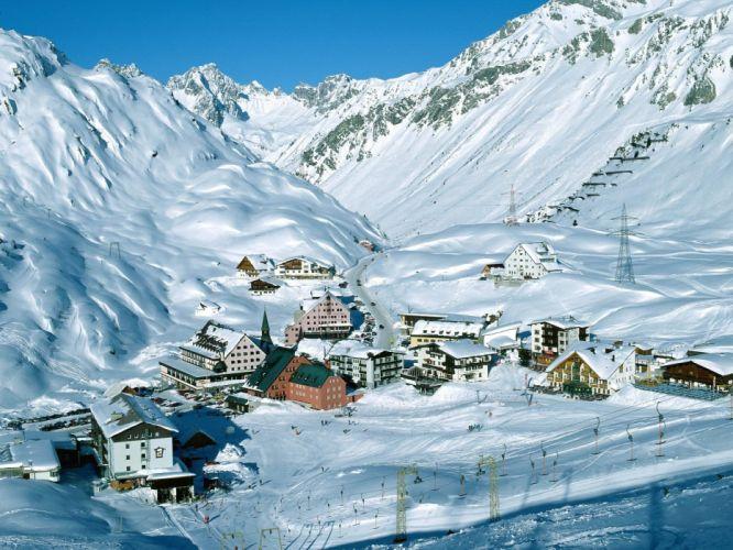 Austria ski tyrol resort wallpaper