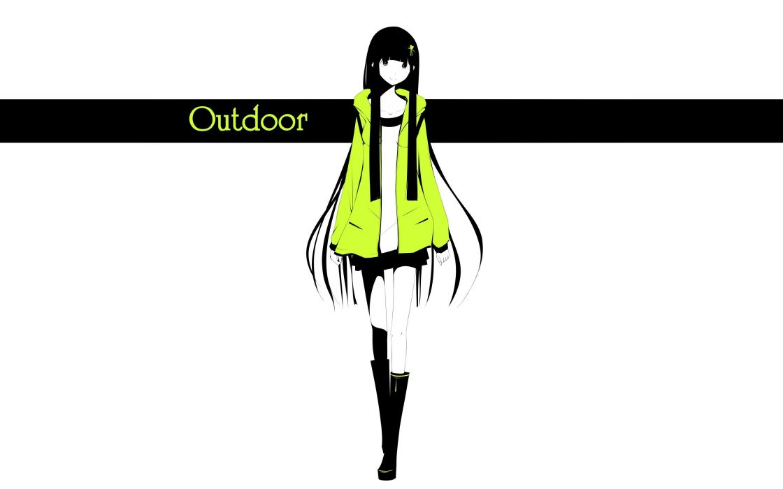 boots text skirts long hair jackets smiling selective coloring hair ribbons simple background anime girls white background original characters haru@ wallpaper