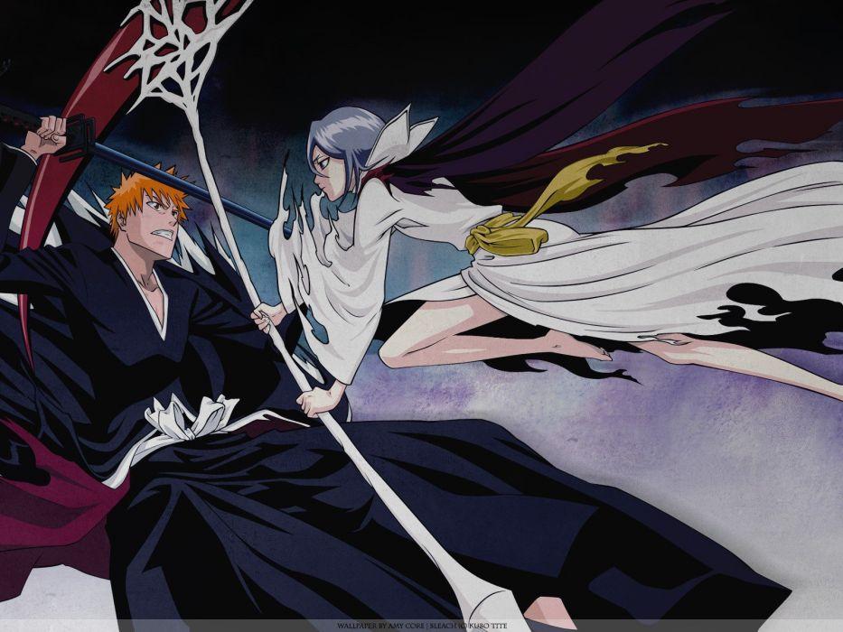 Bleach Kurosaki Ichigo Kuchiki Rukia anime wallpaper