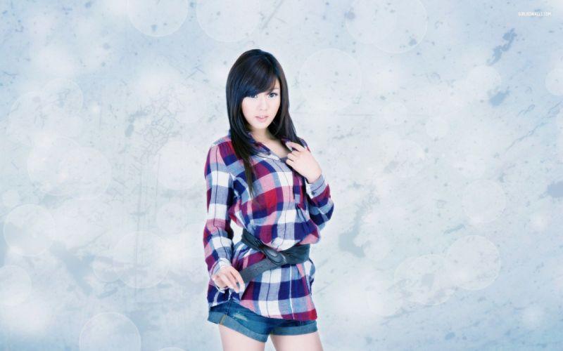 brunettes women Hwang Mi Hee Asians wallpaper