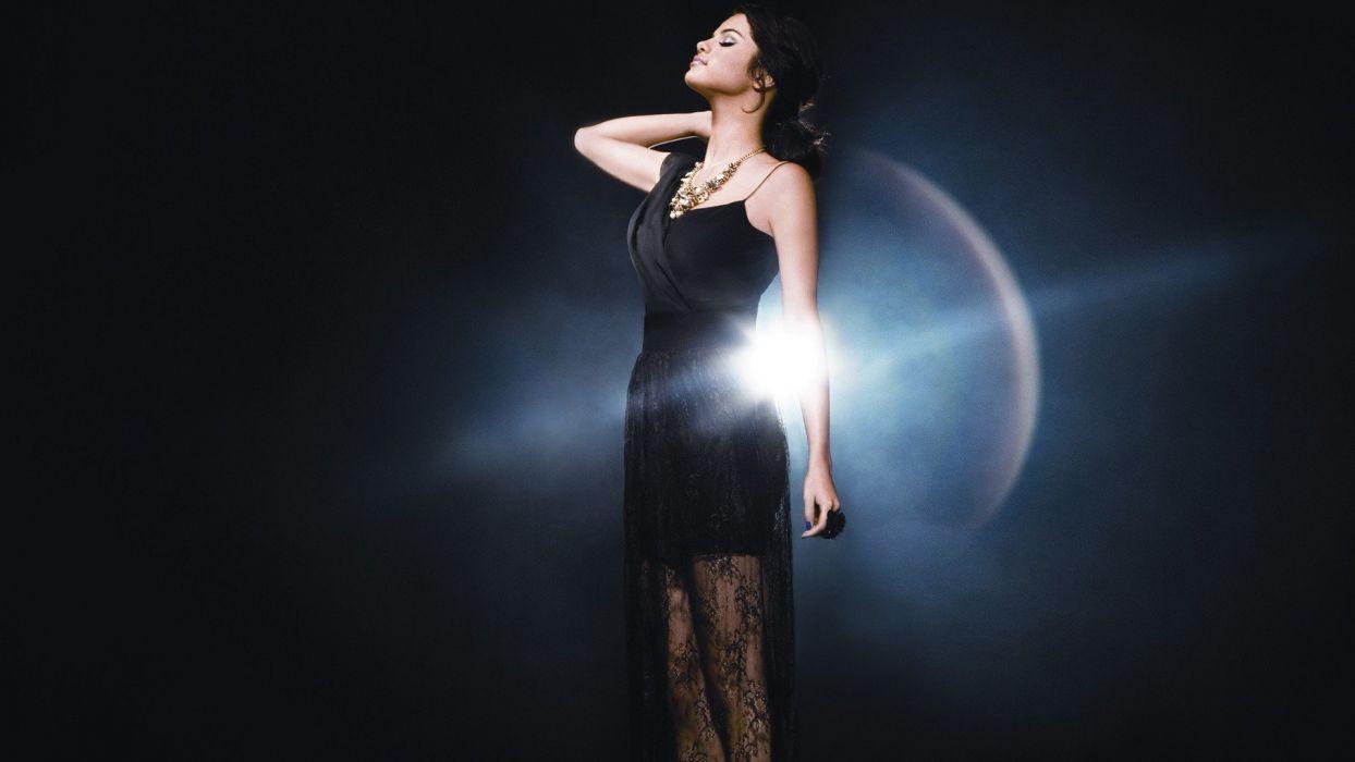 light women Selena Gomez dress celebrity black hair wallpaper