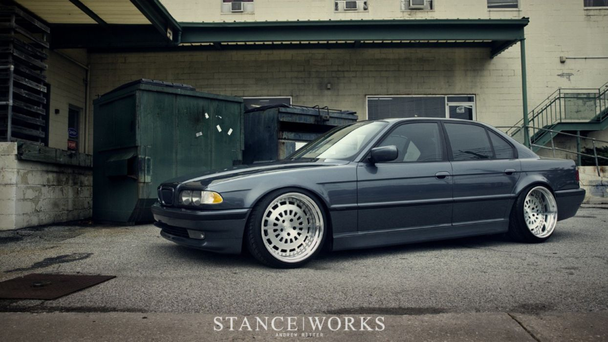 Bmw Slammed Stance Works E38 Stancenation Wallpaper 1920x1080 285139 Wallpaperup