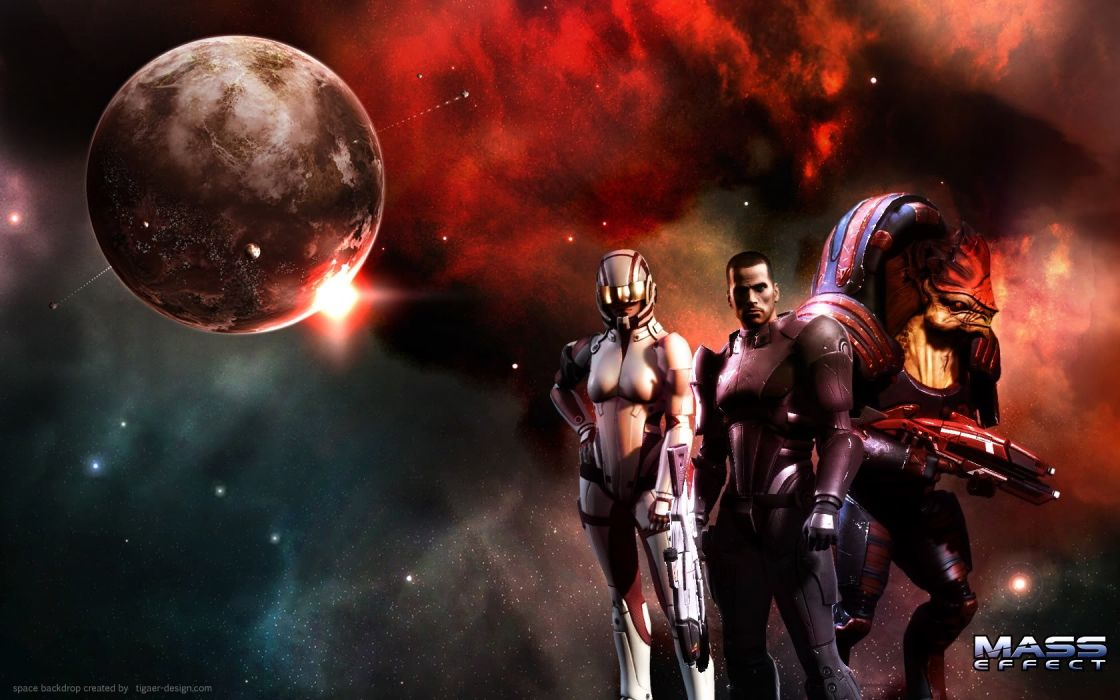 Mass Effect Commander Shepard wallpaper