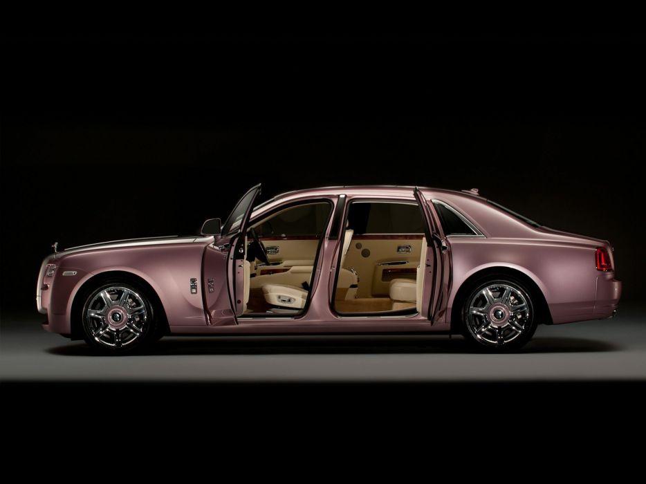 cars Rolls Royce quartz open doors wallpaper