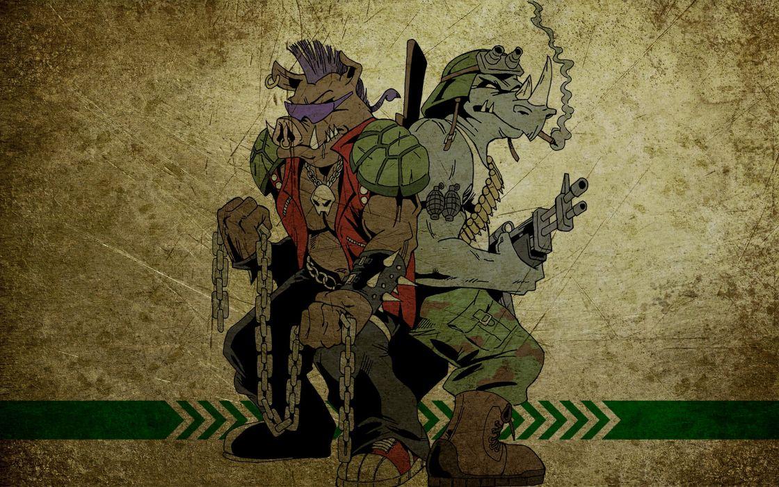 Teenage Mutant Ninja Turtles Rocksteady wallpaper