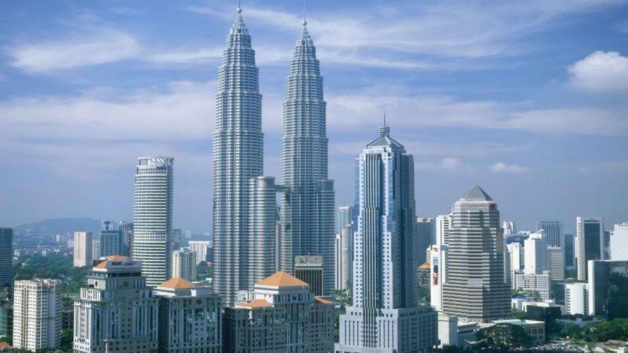 cityscapes buildings Malaysia Kuala Lumpur wallpaper